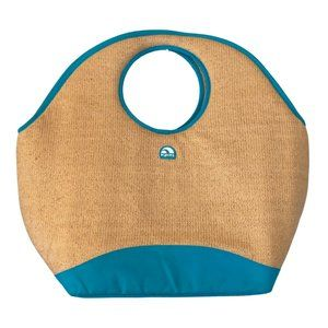 IGLOO Insulated Large Straw Bag Cooler Beach Grass